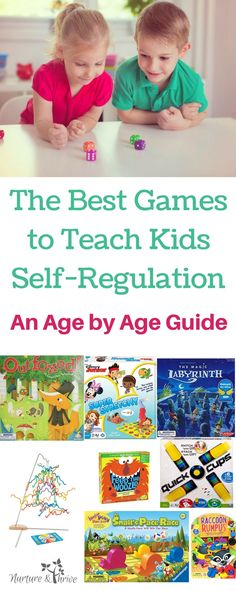 Board games are a great way for kids to practice self-regulation skills like taking turns, waiting, remembering rules, shifting and focusing attention, planning and more! Guides for kids aged 3 to 8. A list of 20+ games that are fun for the whole family. Full descriptions of each game. Best games for family game night. Top Family Board Games #familygamenight #boardgames #toddlers #preschoolers #bestgamesforkids via @nthrive