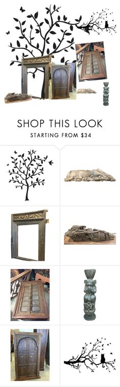 """""""Indian Furniture Decor"""" by era-chandok ❤ liked on Polyvore featuring interior, interiors, interior design, home, home decor, interior decorating, Godinger, table, door and sideboard"""