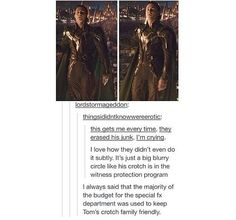 Loki and his blurred out crotch