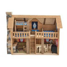 Mary Maxim - Log Cabin Plastic Canvas Kit