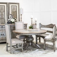 Hemispheres: A World of Fine Furniture Tuscan Furniture, Modern Rustic Furniture, Italian Furniture, Colorful Furniture, Fine Furniture, Dining Room Bench, Dining Room Design, Dining Tables, Round Dining Set