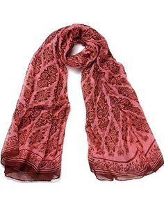 DonDon® Damen Schal Eulen weich und groß