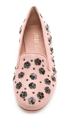 Sparkle Flower Loafers