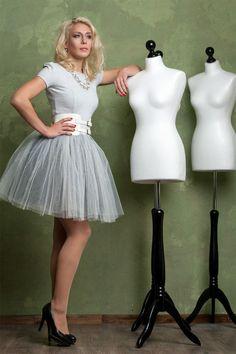 Tüllkleid - silber - Struppets - Evening Gowns