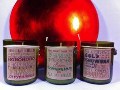 Beautiful Hand crafted Soy wax candles in recycled wine bottles. Our candles are made with 100% soy wax and scented with pure fragrance oils.    Soy