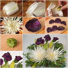 How to Make Beautiful Cabbage Flower Bouquet tutorial and instruction. Follow…