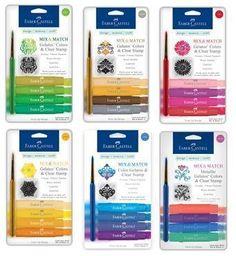 Faber-Castell Mix & Match Gelatos Colours & Clear Stamp - 6 Packs