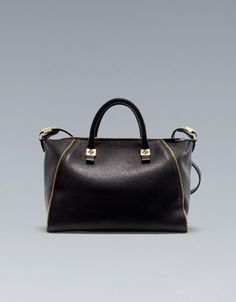 BOWLING BAG WITH ZIPS - ZARA United Kingdom