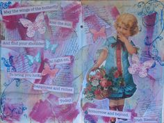 Art Journal Page- use Victorian cut outs from SF to make a page like this