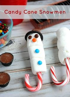 Candy Cane Snowmen Treats