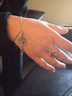 Chain Bracelet Ring on Etsy, $16.00