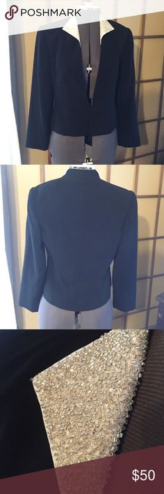 VINTAGE: Daymor Couture Blazer Check out the beadwork on the collar. So perfect. Jacket will dress up any outfit. In beautiful condition. Shoulder pads. Single eyelet clasp in front.   Offers considered. Bundle discount based on items. Vintage Jackets & Coats Blazers