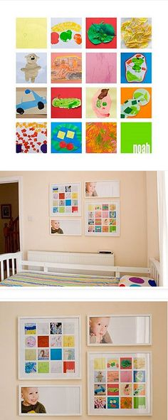 cute way to display your child's artwork