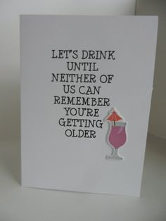 Umbrella Drink Handmade Getting Older Birthday Greeting Card with Happy Birthday and drink embellishment Old Birthday Cards, Birthday Greetings, Birthday Drinks, Birthday Fun, Cocktail Umbrellas, Homemade Greeting Cards, Acorn, Getting Old, Projects To Try