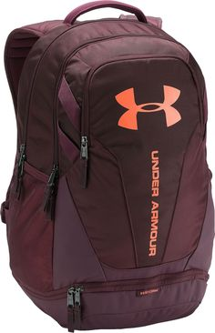 Under Armour Hustle Backpack, Dark Maroon Mochila Under Armour, Under Armour Backpack, Running Gear, Running Clothing, Trail Running, Mochila Nike, Cute Backpacks For School, Maroon Nike, Grey Backpacks