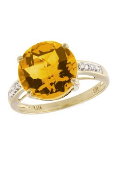 see details here: Effy Jewelry Yellow Gold Citrine and Diamond Ring, 1.34 TCW