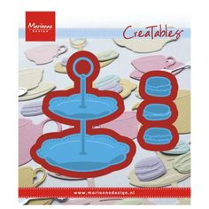 Marianne Design creatables dies are stencils for die cutting and embossing paper for your cards and craft projects. The dies are used in combination with most leading brand die cutting machines. The cake stand die measures approximately x Cake Tray, Marianne Design, Card Templates, Macarons, Wedding Cards, Diy And Crafts, Stencils, Craft Projects, Kids Rugs