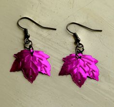 Lovely glittery leaf sequin earrings choice of 4 colours by Ffigys Designs, £2.00