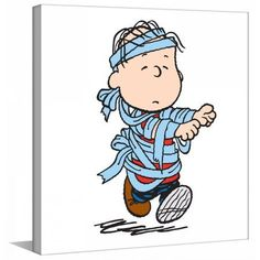 Marmont Hill Linus Mummy Peanuts Print on Canvas, Size: 18 inch x 18 inch, Multicolor