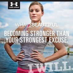 What's beautiful...Becoming stronger than your strongest excuse. I WILL!!!
