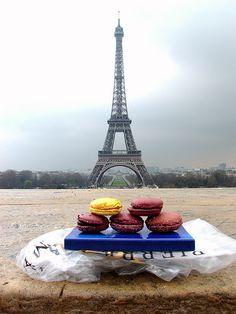 Macarons Gregory Renard à la Tour Eiffel by Canon S3 IS in Paris, France, via Flickr