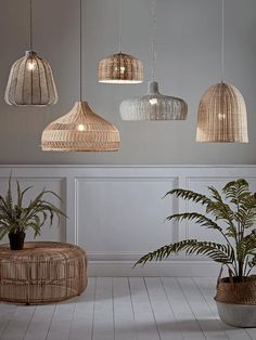 Crafted from natural rattan our petite dome pendant will add a touch of Scandinavian style to your living space. Mix and match with other pendant lighting or hang three in a row for a perfect display. - Pendant Lighting - Ideas of Pendant Lighting