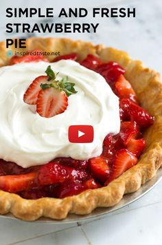 This Strawberry Pie Recipe is filled with fresh, sweet strawberries ...