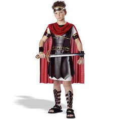 Gladiator Kids Costumes for an adorable look that will be a huge hit this Halloween! The Kids Roman Gladiator Costume is guaranteed to make this Halloween one to remember!