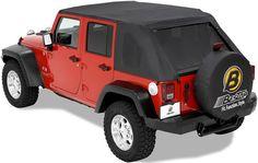 Bestop Trektop Soft Top for Jeep Wrangler Unlimited 2004-2006 - Black Diamond Bestop Jeep Tops B5680235