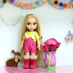 """Yellow&Pink ... Doll clothes for Disney animator dolls 16""""."""