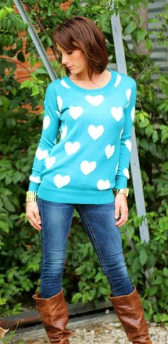 Our fav heart sweater yet!!!! The perfect thickness!