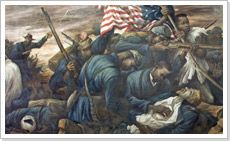 On July 11, 1863, several colored regiments of the Union army fight and suffer heavy casualties at the Battle of Fort Wagner
