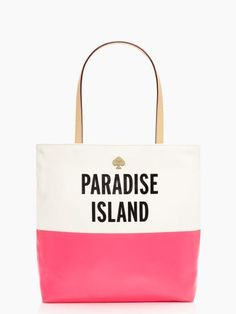 Paradise Island dipped pink tote