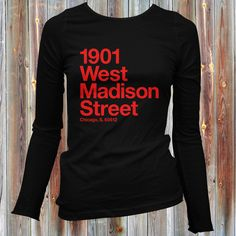 Women's Chicago Basketball and Hockey Stadium - Long Sleeve T-shirt - S M L XL 2x - Chicago LS Tee - 4 Colors - CBHS
