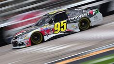 #MOTORSPORTS  #MOTORS  #NASCAR FORT WORTH, TX - NOVEMBER 04: Michael McDowell, driver of the #95 Thrivent Financial Chevrolet, practices for the NASCAR Sprint Cup Series AAA Texas 500 at Texas Motor Speedway on November 4, 2016 in Fort Worth, Texas.  (Photo by Jared C. Tilton/Getty Images)