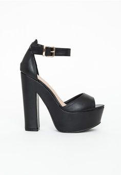 Alana Platform Block Heels - Footwear - Platforms - Missguided