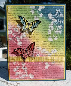 Hand Stamped Sentiments  ---- SU Stamp set: Papillon Potpourri with coordinating Elegant Butterfly punch