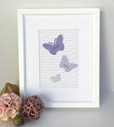 3D Butterfly Girls Room Art Butterfly Nursery Art by SweetieandRoo