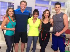 Mindy Buxton, Steve Craig, Marie Osmond, Stacey Stauffer, and Adam Gregory at QVC with the BodyGym