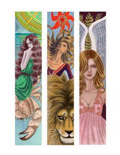 12 Zodiac Bookmarkers-(Artist- Jinfeng Liu)  Cancer, Leo, Virgo