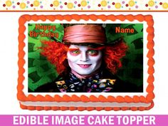 ALICE IN WONDERLAND Edible image Cake topper more sizes available