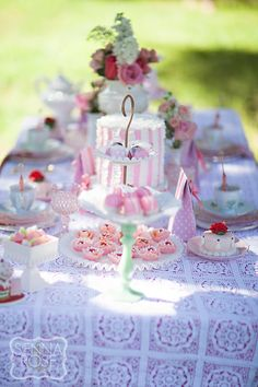 Minted and Vintage Tea Party
