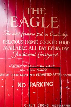 """The Eagle"", Cambridge. Lovely pub, though sadly often full of people who are very aware that they're in The Eagle."