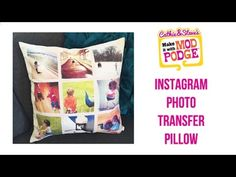 How to DIY Instagram Photo Transfer Pillows - YouTube