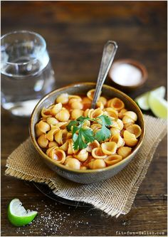 Sopa (Mexican Soup) l by fit, fun & delish! Sopa de fideo con queso on the side, like mom used to make, for a warm lunch! YES why didn't I think of that?