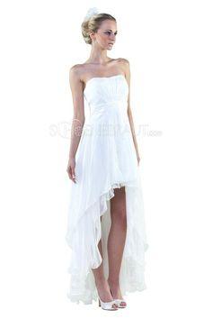 Brautkleid Vorne Kurz Hinten Lang A Linie Cocktailkleid Abendkleid Abiballkleid Brautjungfernkleid aus Chiffon [#UD9158] - schoenebraut.com