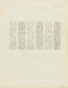 Anni Albers, Drawing from a notebook, 1976