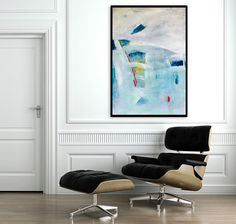 Large Abstract Painting  39 on paper. Original by DUEALBERI, $200.00