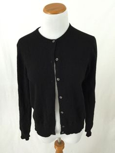 J. CREW navy blue cotton blend Full Zip Cardigan Sweater XS #JCrew ...