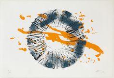 """FRANCISCA REVERT """"Iris"""" Serigrafía en tres colores. Prueba de artista. Tirada 399 ejemplares. Estampada en taller Carlos Junquero (Valencia) 61,5x45,5cm"""